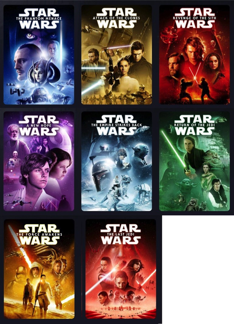 Star Wars Movie Thumbnails Get A Refresh For Disney Star Wars Time