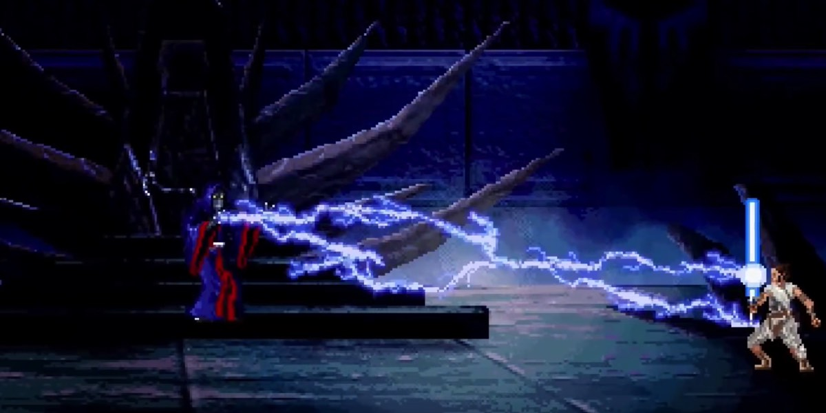 Rey And Ben Solo Vs Palpatine The 16 Bit Edition Star Wars Time